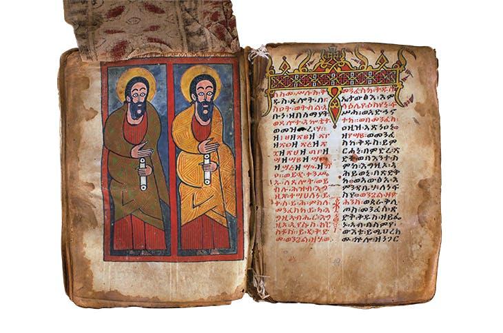 The apostles Matthew and Thaddeus, early 15th century, unknown artist, Ethiopia. Dabra Abbay monastery, Tigray region. Photo: Michael Gervers