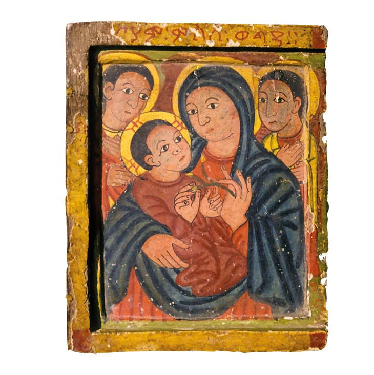 Portable icon showing the Virgin and Child, mid 15th century, Master of the Round Faces. Institute of Ethiopian Studies, Addis Ababa. Photo: Stanislaw Chojnacki