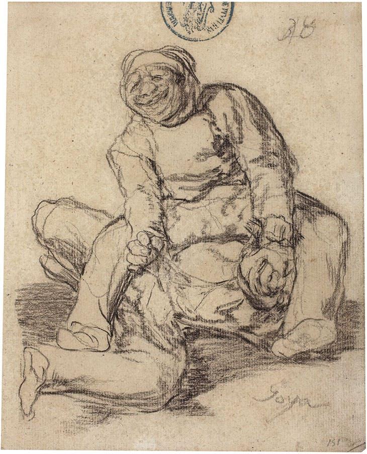 Fight to the Death between Two Stout Men (1824–28), Francisco de Goya. Museo Nacional del Prado, Madrid