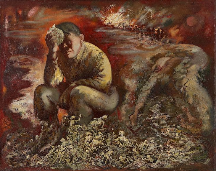 Cain or Hitler in Hell (1944), George Grosz.
