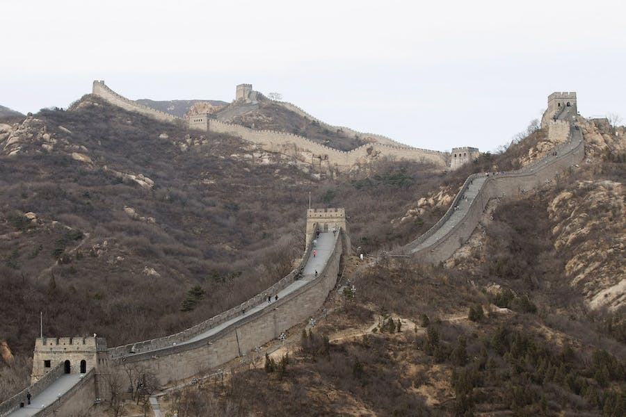 The Badaling section of the Great Wall of China.