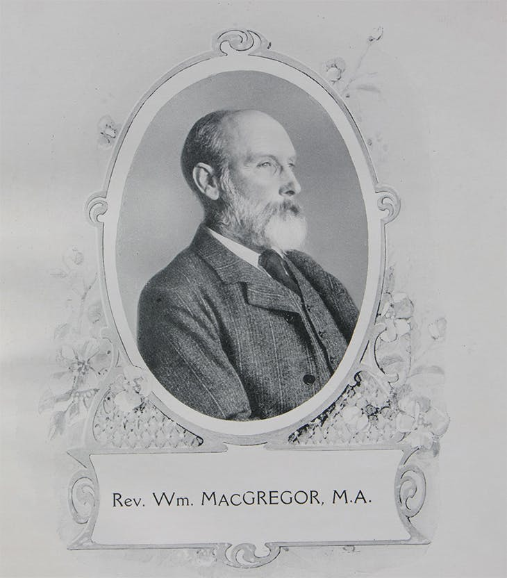 The Reverend William MacGregor (1848–1937), Vicar of Tamworth and founder of Tamworth Castle Museum, photographed in 1886. Courtesy Tamworth Co-operative Society