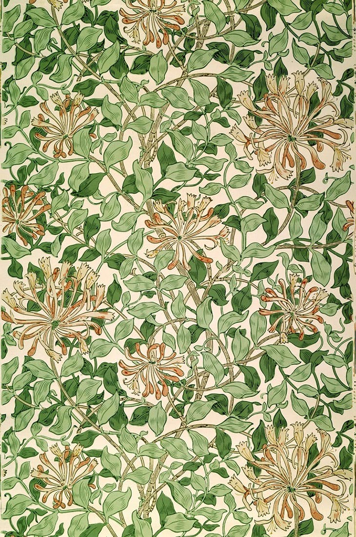 'Honeysuckle' wallpaper (c. 1883), May Morris.