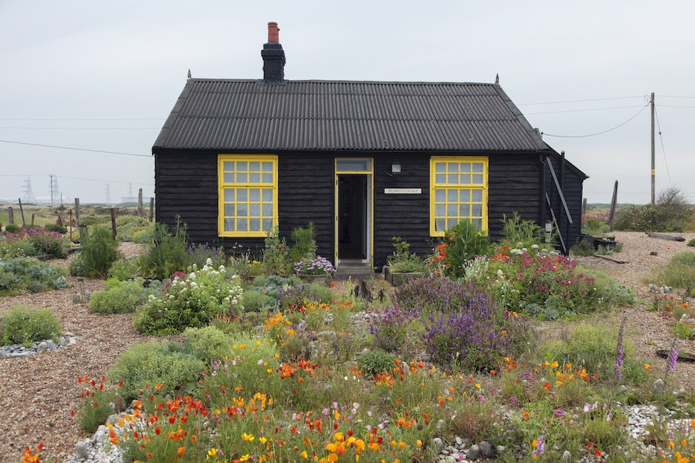 Derek Jarman's cottage at Dungeness, Kent.