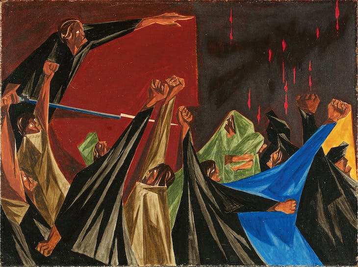 ...is life so dear or peace so sweet as to be purchased at the price of chains and slavery? — Patrick Henry, 1775 (1954), Panel 1 from Struggle: From the History of the American People (1954–56), Jacob Lawrence.