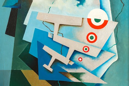 Tricolour Wings (1932; detail), Tullio Crali