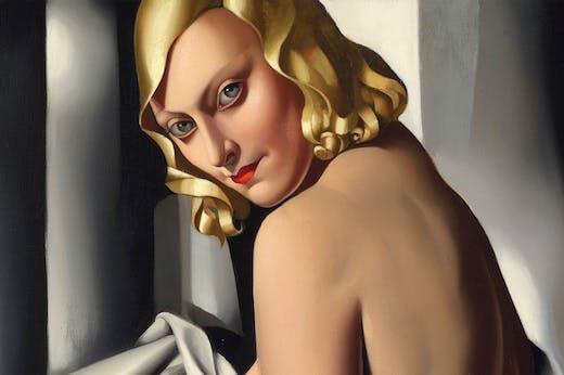 Portrait de Marjorie Ferry (detail; 1932), Tamara de Lempicka.