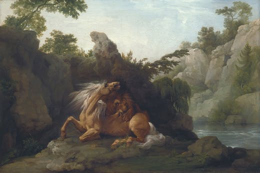 Horse Devoured by a Lion (exhibited 1763), George Stubbs. Tate, London