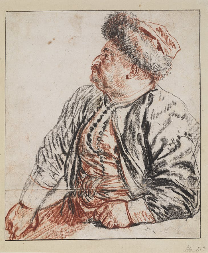 Seated Persian in Profile (c. 1715), Antoine Watteau. Teylers Museum, Haarlem.
