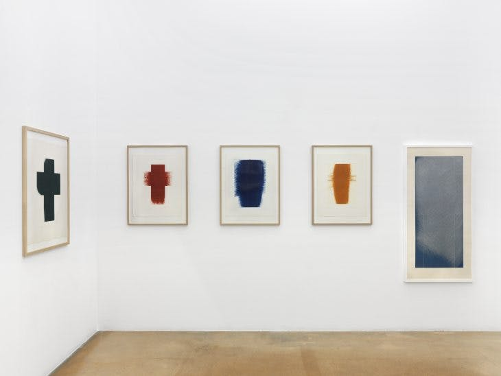 Installation view of 'Arnulf Rainer: Territoires latents' at MAMCO, Geneva. Photo: Annik Wetter; courtesy MAMCO Geneva