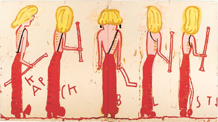 NK (Syracuse Line-Up) (2014), Rose Wylie.