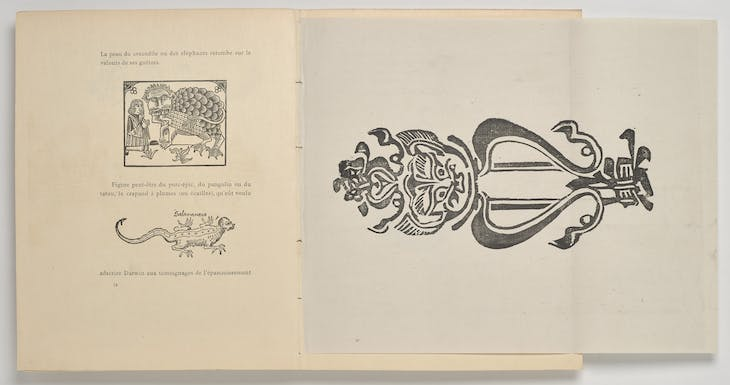 Unfolded spread from L'Ymagier (Paris :Mercure de France, 1894–1896), Alfred Jarry.