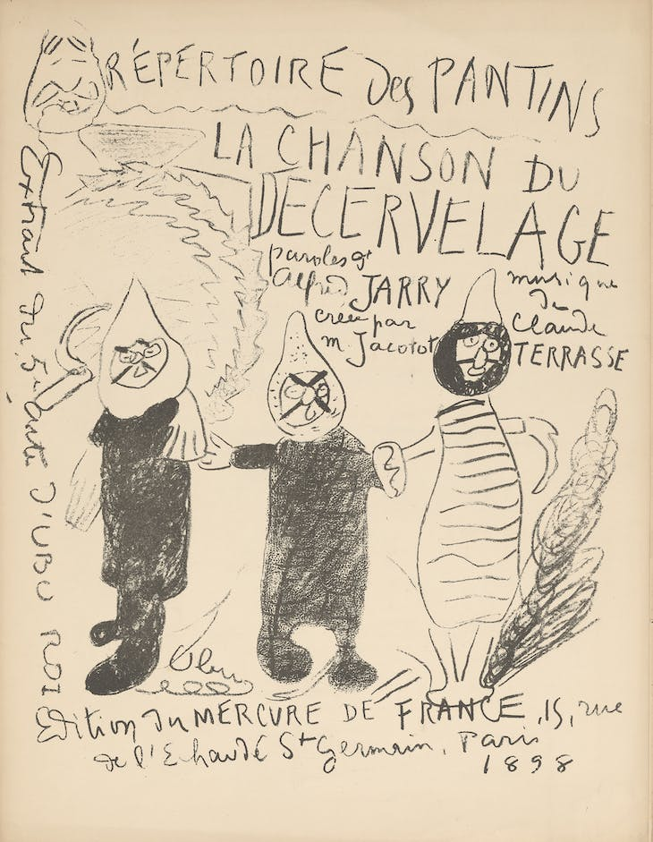 Illustration in Répertoire des Pantins: La chanson du décervelage (Paris: Mercure de France, 1898), Alfred Jarry and Claude Terasse.
