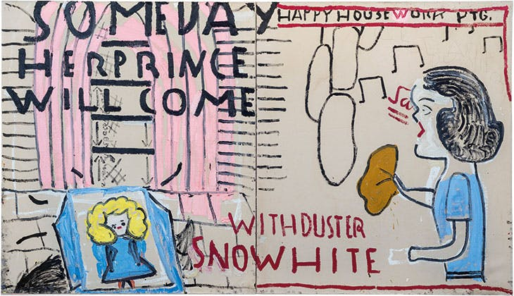Snowwhite (3) with Duster (2018), Rose Wylie.
