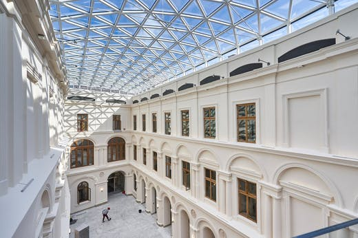 The new glass roof covering the courtyard of the Princes Czartoryski Museum in Kraków. Photo: Tomasz Markowski; © National Museum in Kraków