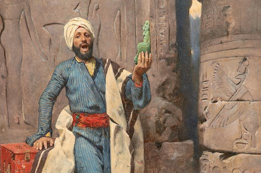 The Egyptian Antiques Seller, (1884), Charles Wilda.