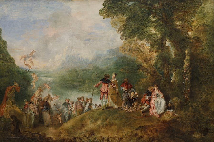 Pilgrimage to the Island of Cythera (1717), Antoine Watteau. Musée du Louvre, Paris, Photo: © Musée du Louvre, dist. RMN-Grand Palais