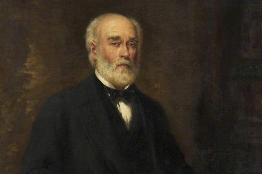 Sir Joseph Whitworth (detail; before 1908), Thomas Benjamin Kennington. The Whitworth, University of Manchester