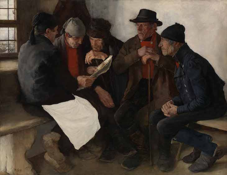 The Village Politicians (1877), Wilhelm Leibl.