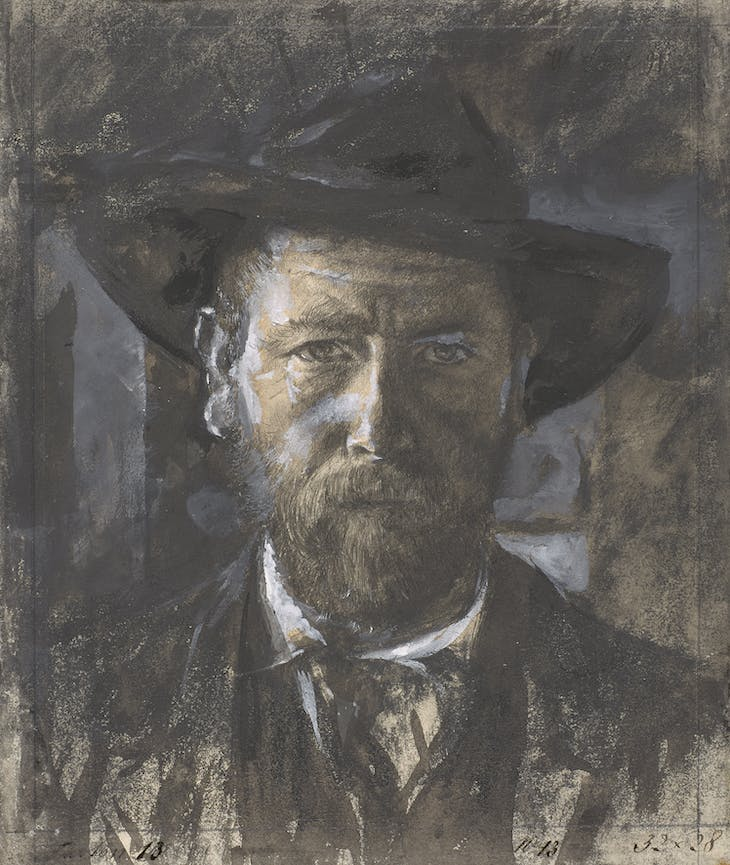 Self-portrait (1891), Wilhelm Leibl.