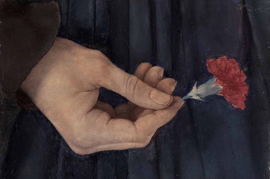 Girl with a Carnation, Fragment of the Right Hand