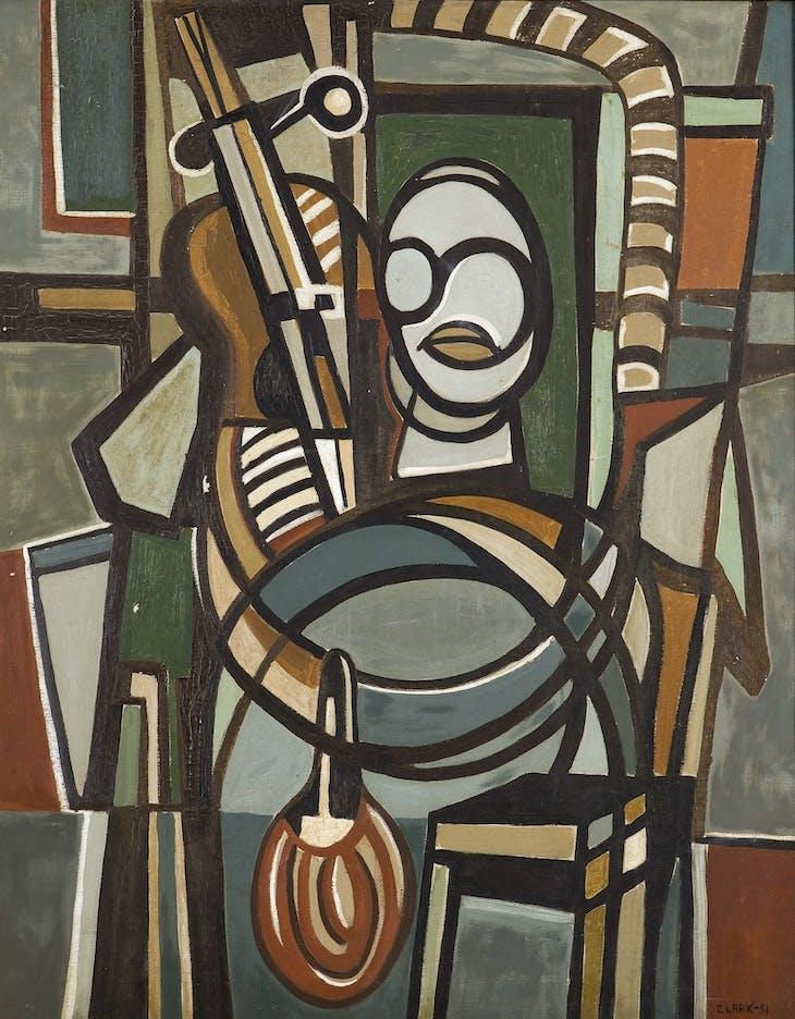 O Violoncelista (The Violoncellist) (1951), Lygia Clark.