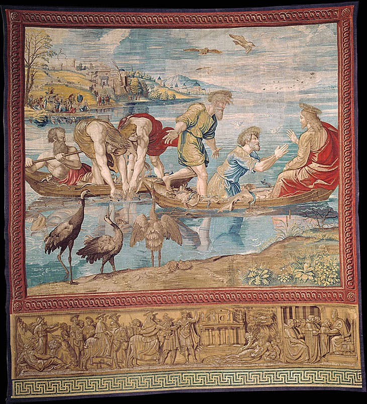 Tapestry of the Miraculous Draught of Fishes, designed by Raphael for the Sistine Chapel.