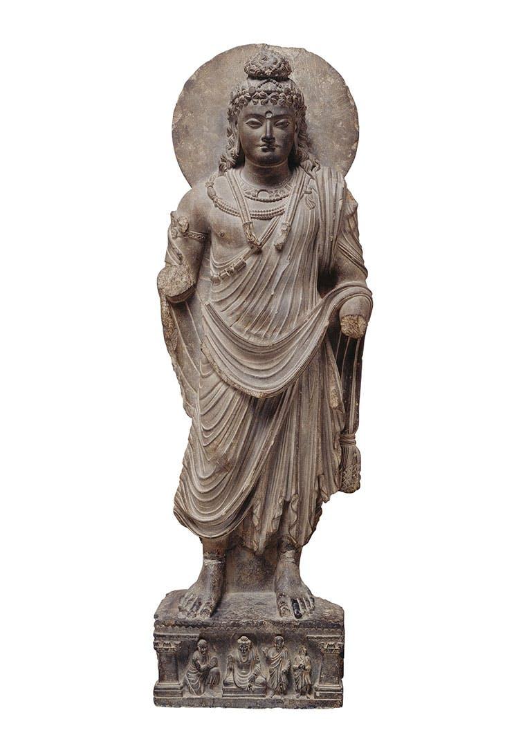 Bodhisattva (c. mid 2nd–mid 3rd century), Pakistan, Gandhara. Seattle Asian Art Museum