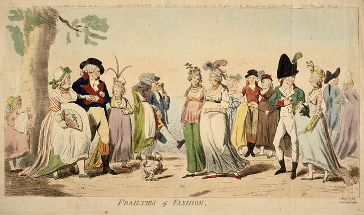 Frailties of Fashion (1793), Isaac Cruikshank, published by S.W. Fores, London, 16 April 1793.