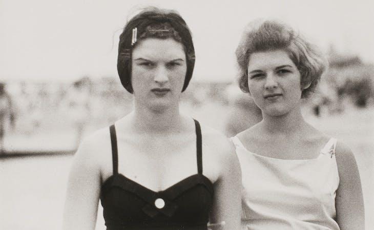 Two girls on the beach, Coney Island, N.Y.C