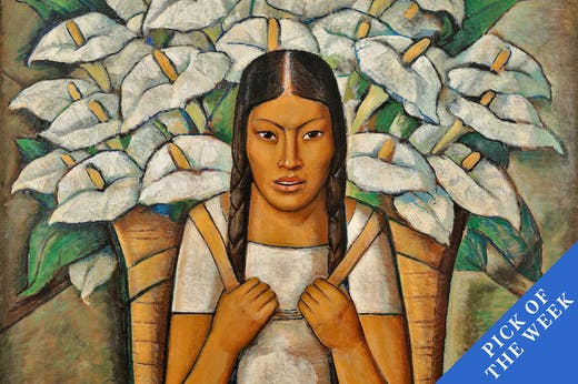 Lily Vendor (Vendedora de Alcatraces) (detail; 1929), Alfredo Ramos Martínez.