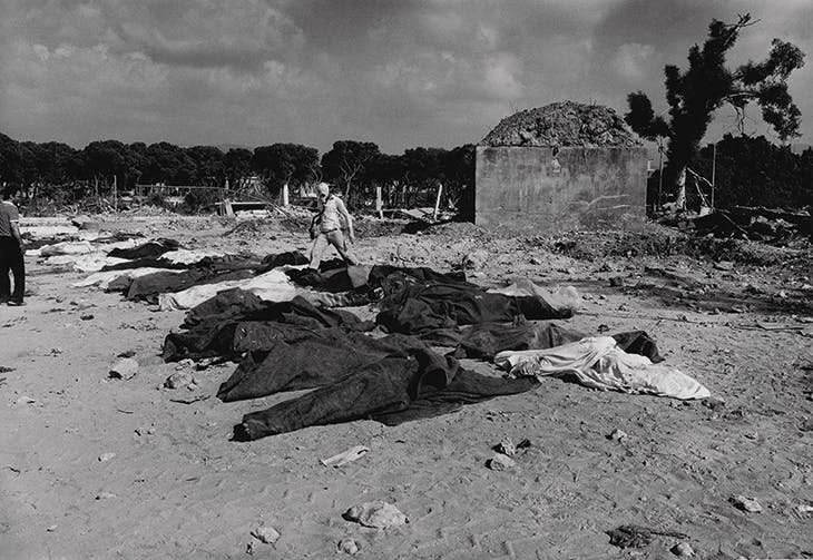 After the Massacre of Sabra Camp in Beirut (1982; printed in 2013), Don McCullin. Courtesy Hamiltons Gallery, London; © Don McCullin