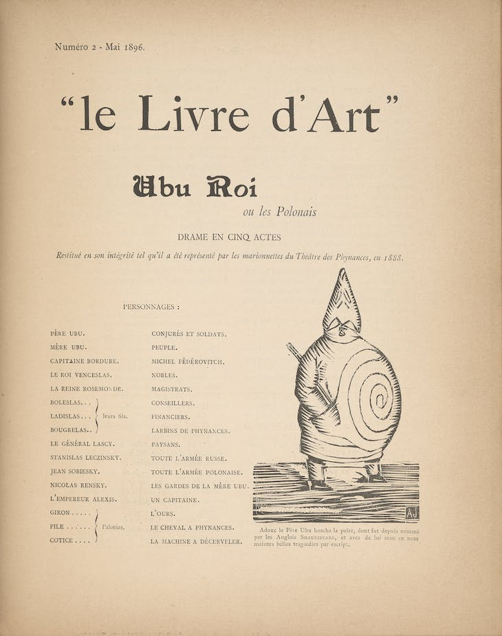 Alfred Jarry's 'Ubu Roi', in Livre d'Art no. 2 (April 1896). Courtesy the Morgan Library & Museum, New York