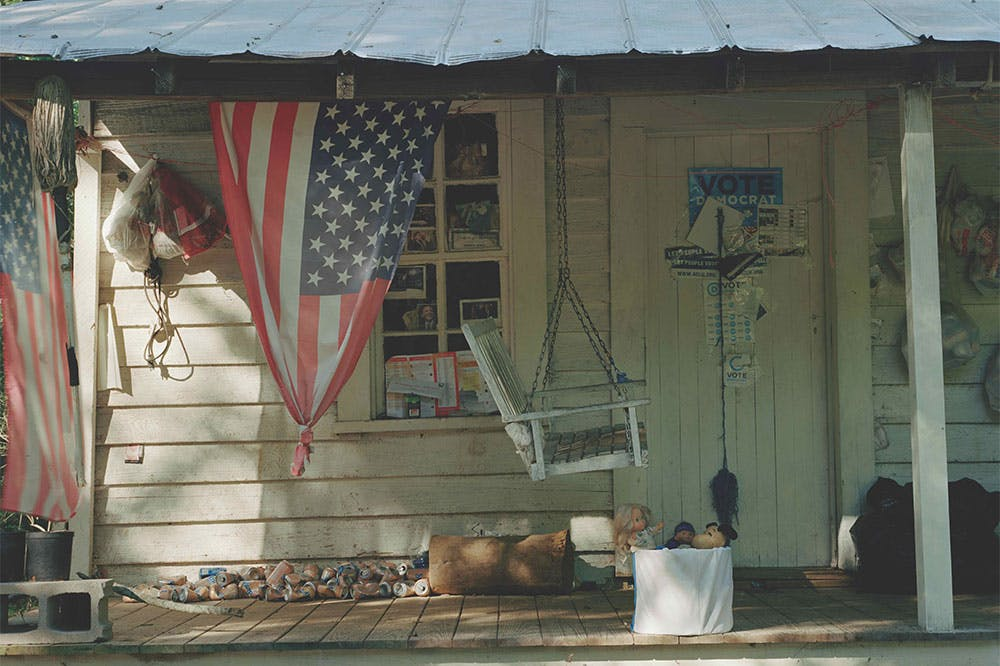 Documentation of the yard and porch of the artist Emmer Sewell.