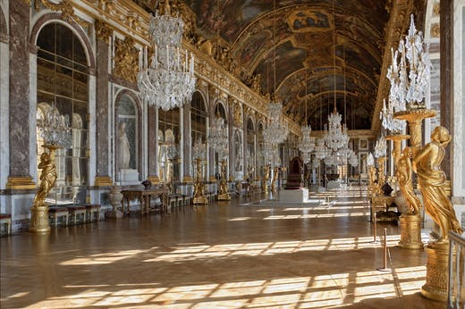 The Galerie des Glaces at the Chateau de Versailles