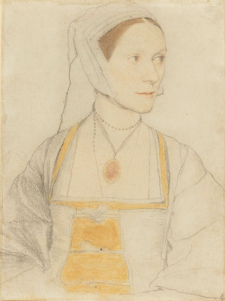 Cecily Heron (c. 1527), Hans Holbein the Younger.