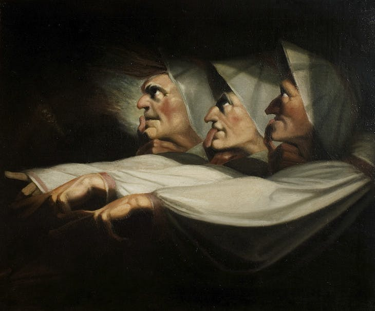 The Weird Sisters, Macbeth (c. 1783), Henry Fuseli.