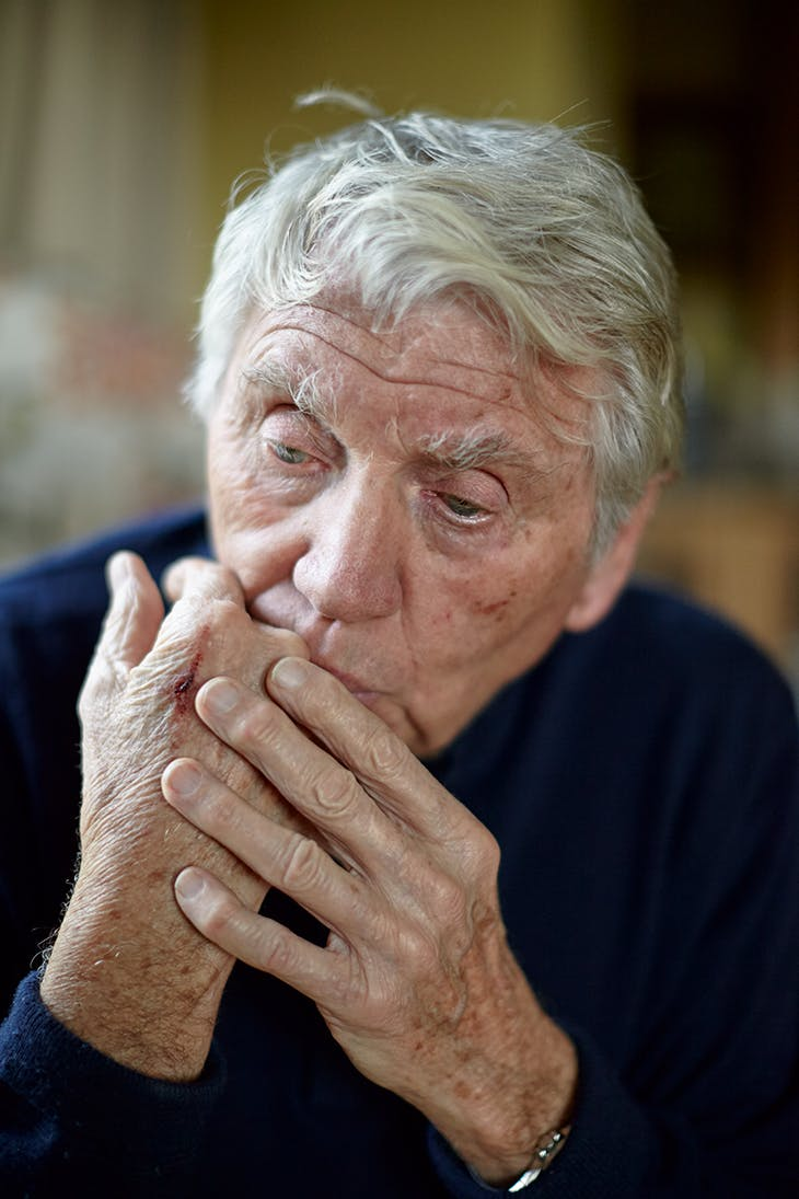 Don McCullin photographed in Somerset in January 2020. Photo: Toby Glanville