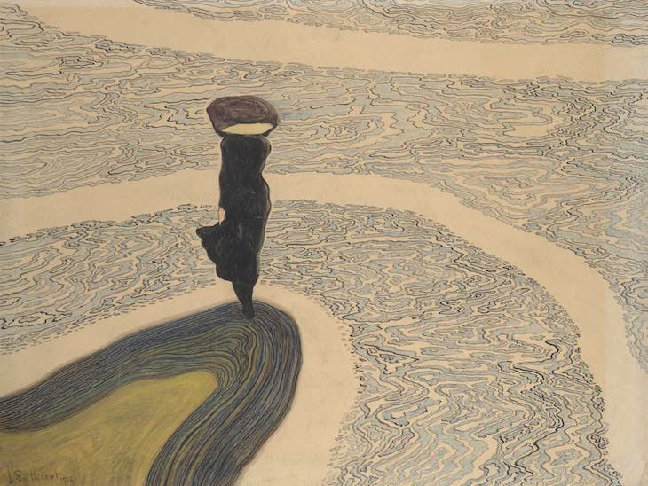 Woman at the Shoreline (1910), Léon Spilliaert.