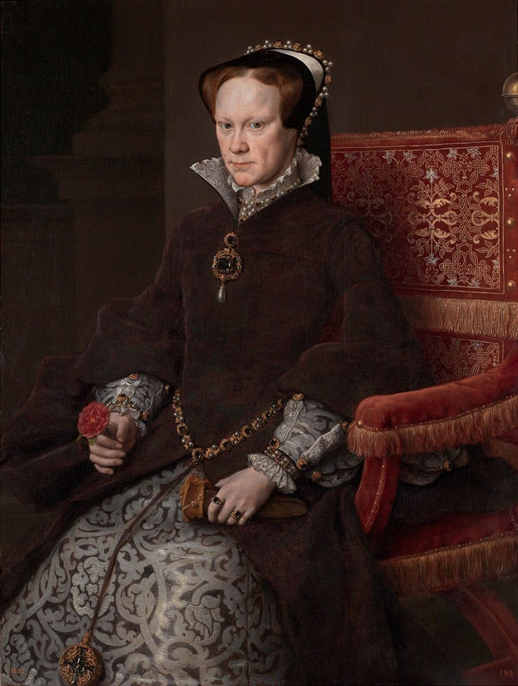 Mary Tudor, Queen of England, Second Wife of Philip II (1554), Anthonis Mor.