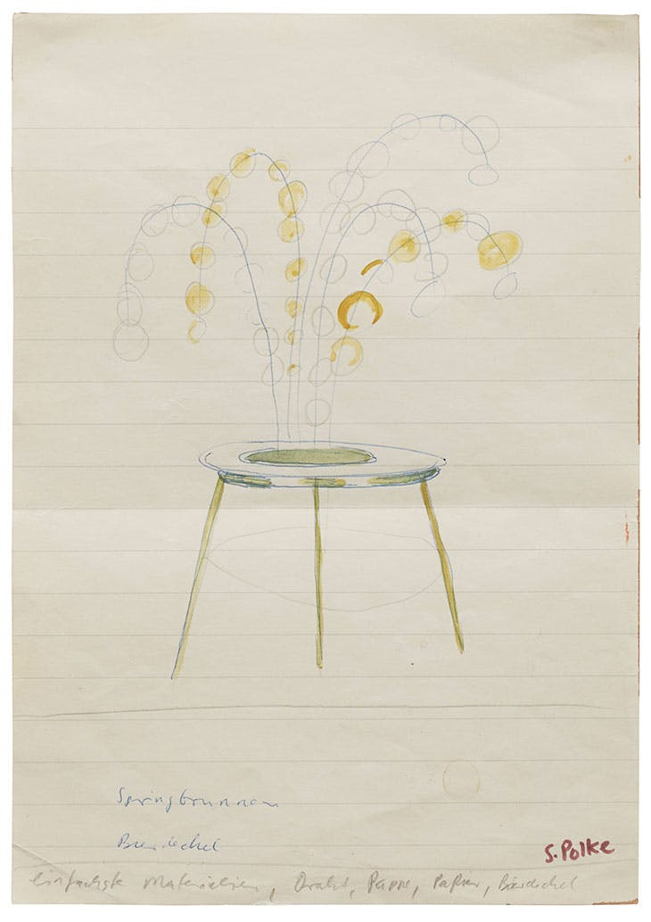 Fountain, Beer Coaster (c. 1967–68), Sigmar Polke.