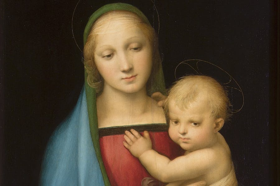 Madonna del Granduca (detail; c. 1505), Raphael.