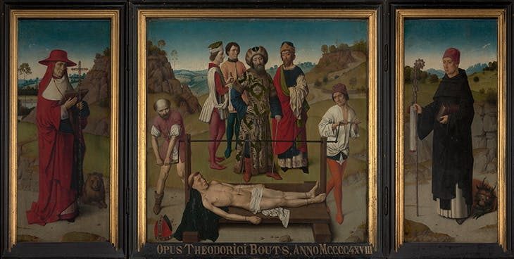 The Martyrdom of St Erasmus (c. 1458), Dieric Bouts. St Peter's Church, Leuven.