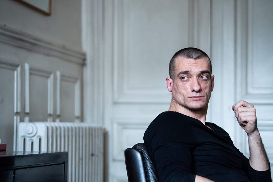 Russian artist and activist Pyotr Pavlensky during a press interview in Paris on February 22, 2020. Photo by MARTIN BUREAU/AFP via Getty Images