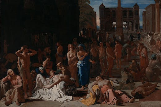 Michael Sweerts' Plague in an Ancient City (1618), one of the many artworks donated by the Ahmanson Foundation to Los Angeles County Museum of Art over the past five decades