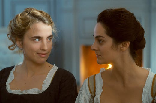 Adèle Haenel and Noémie Merlant in Céline Sciamma's Portrait of a Lady on Fire.