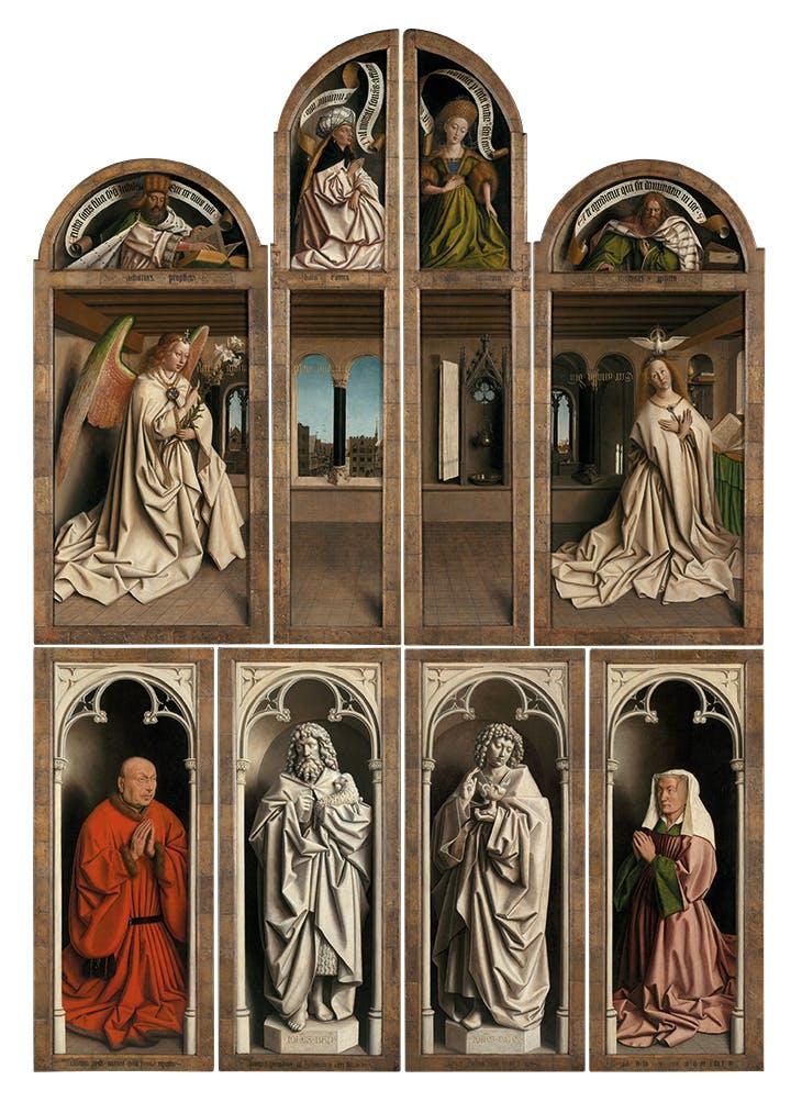 Ghent Altarpiece (exterior; 1432), Jan van Eyck.
