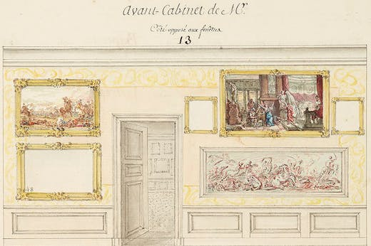 Detail from page 40 of the Catalogue des Tableaux de Mr Julienne (c. 1756), Jean-Baptiste-François de Montullé.