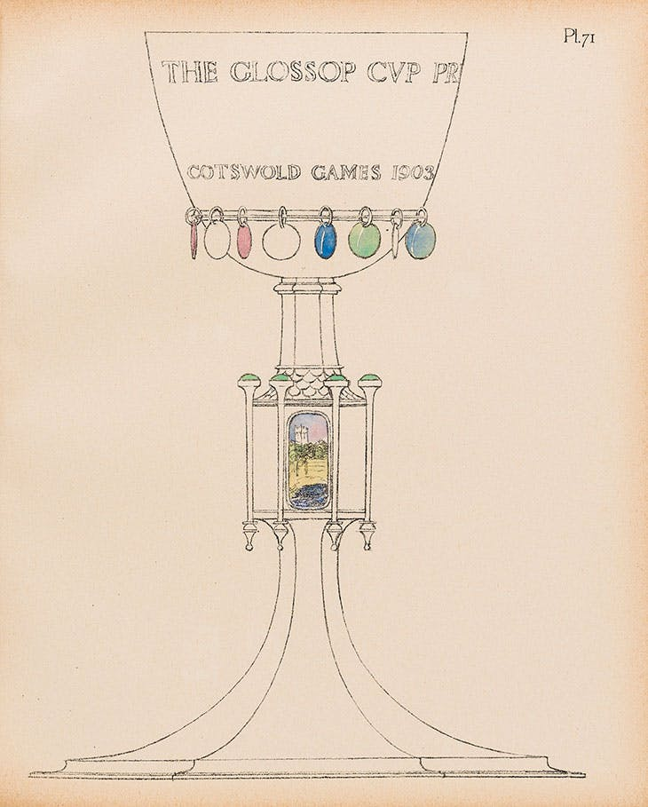 Plate from C.R. Ashbee's Modern English Silverwork (Broad Campden, 1909).