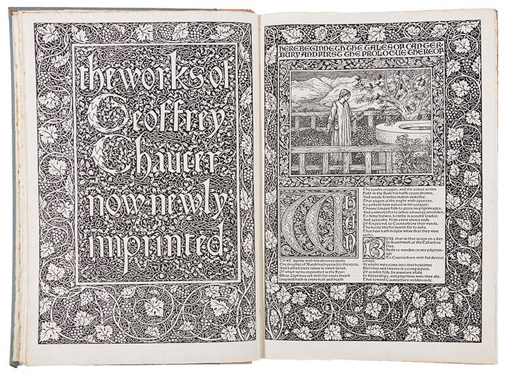 The Kelmscott Chaucer.